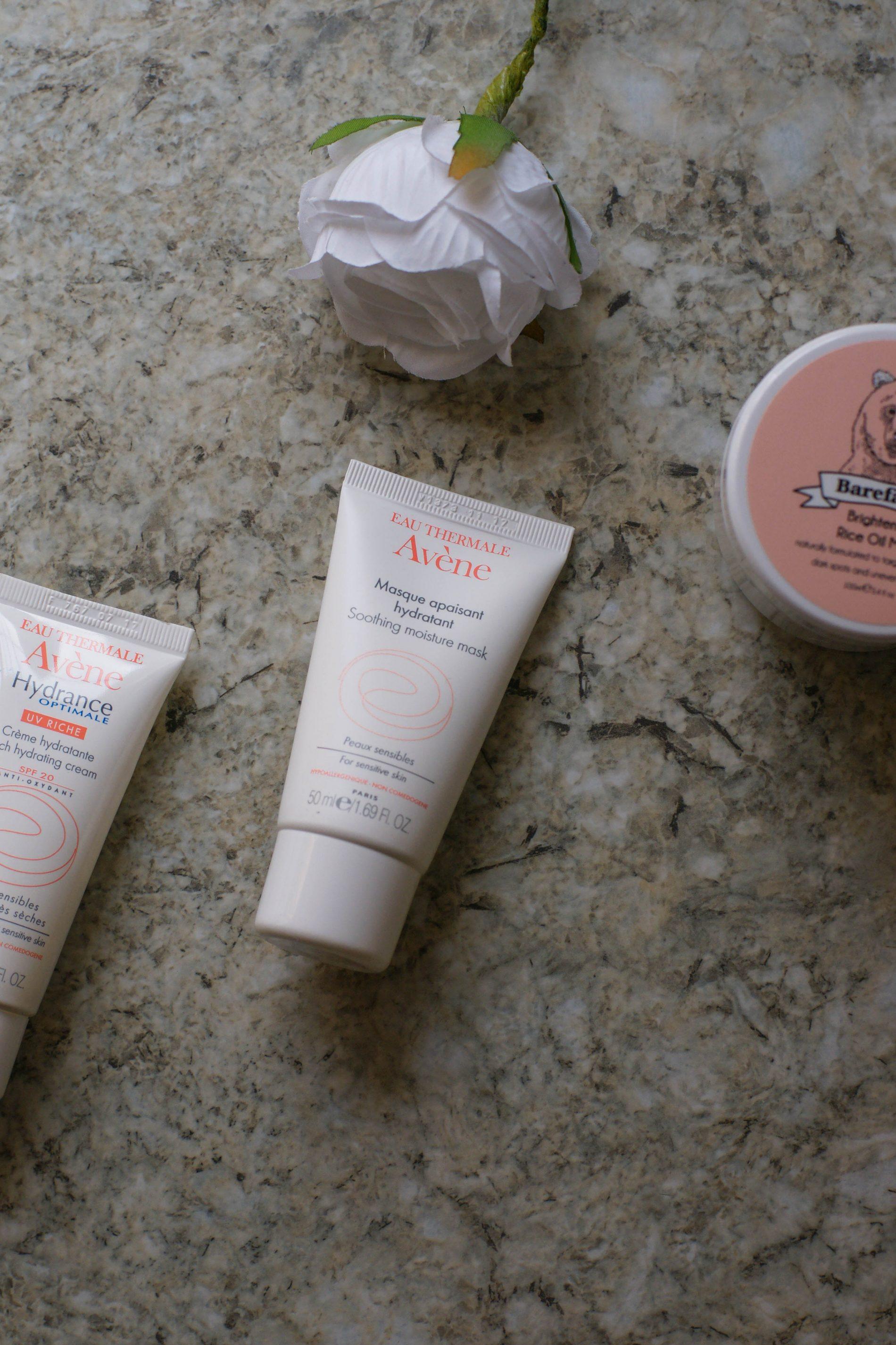Avène Hydrating Cream, Moisture Mask & BeBarefaced Review